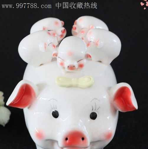 景德镇陶瓷可爱猪猪储蓄罐存钱罐