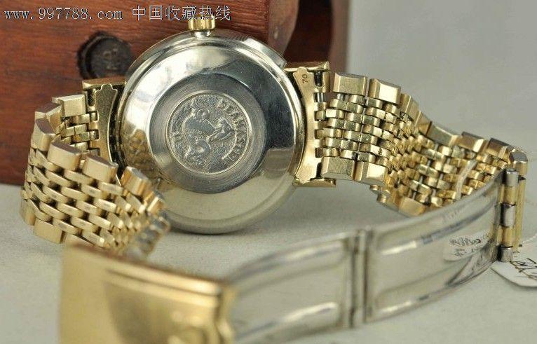 二手古董手表极品原装包金带欧米茄563拉跳王机芯自动图片