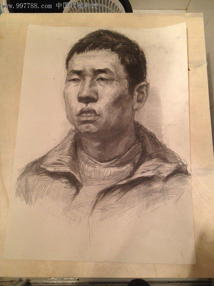 男中年人物素描