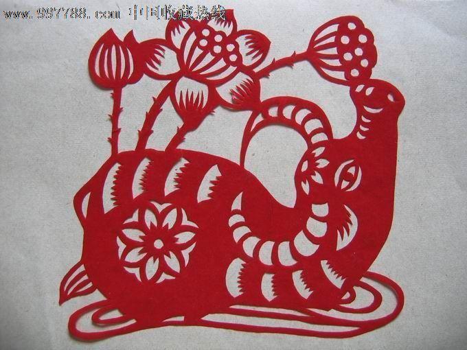 2187 品种: 剪纸/窗花-剪纸/窗花 属性: 60-66年,,产地不详,,动物,,单
