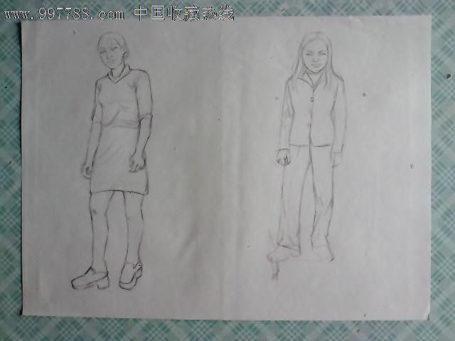素描人物画稿(三十三)_价格元_第1张_中国收藏热线
