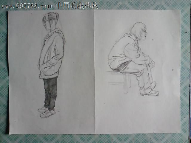 素描人物画稿(三十九)