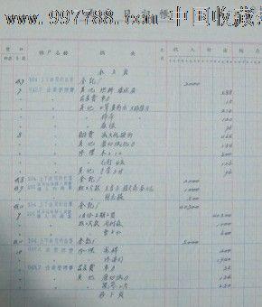 上海陛记印刷厂1958年现金日记账