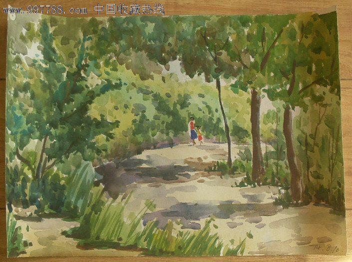 青岛风景水彩画3