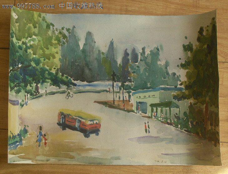 青岛风景水彩画4_价格元_第1张_中国收藏热线
