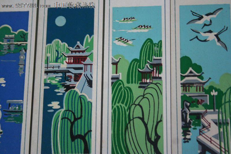 杭州手绘套色书签