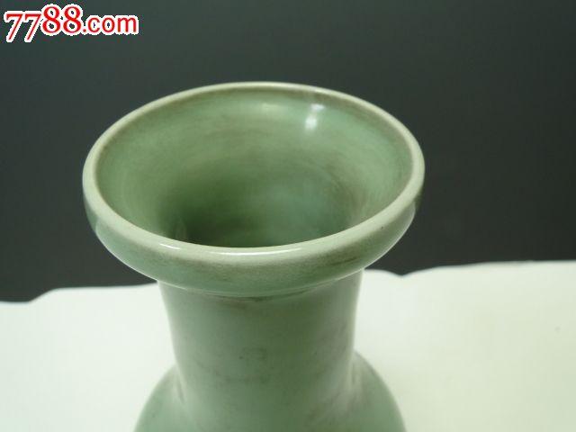 元代陶瓷器梅子青瓷龙泉窑花瓶