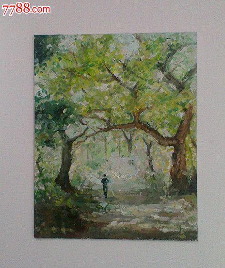 油画,风景画——春天的脚步