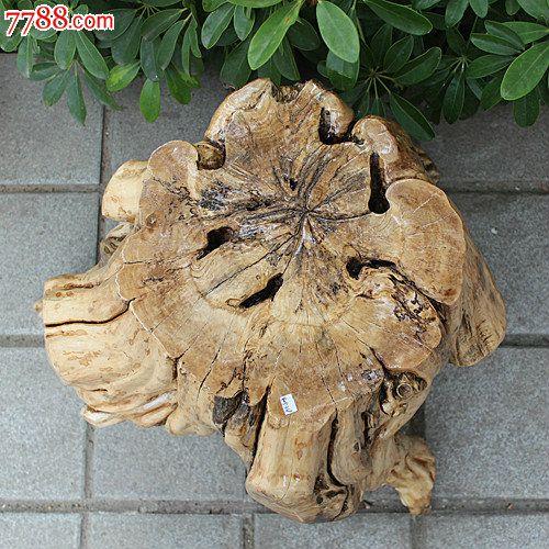 宜居品阁木雕根雕树桩凳换鞋凳柑橘树根凳艺术花架花