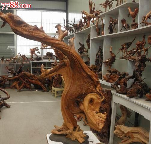 刘炳新根艺家作品专场------金鱼戏水-根雕--se-零售