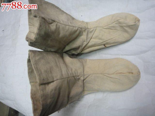 手工缝制老布袜子