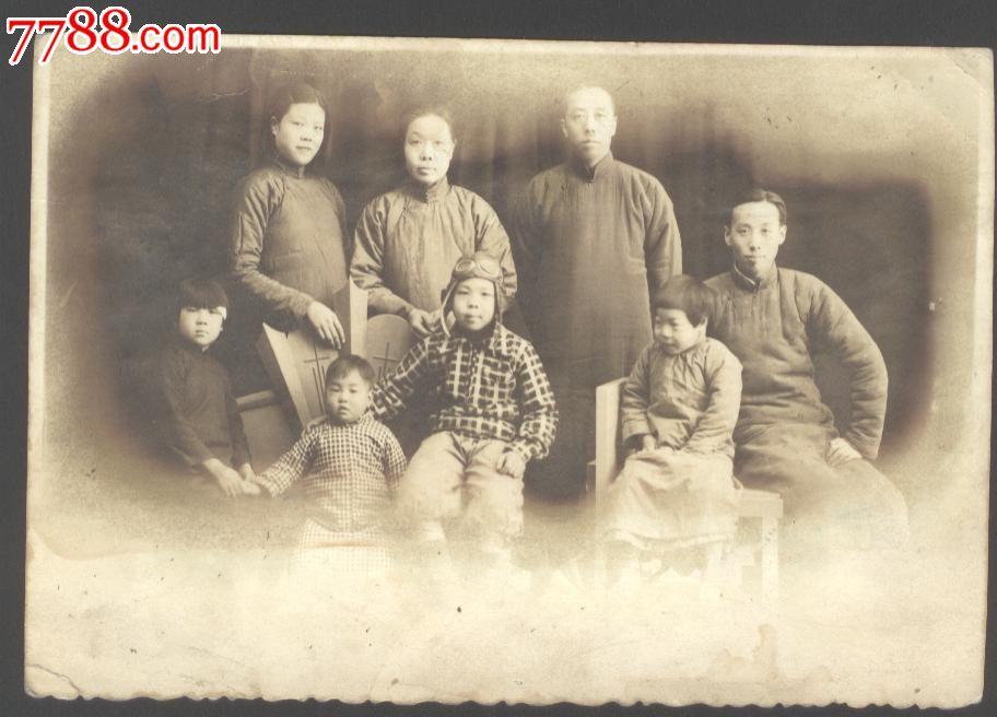 老_民国老照片【全家福】_价格元_第1张_中国收藏热线