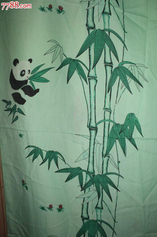 熊猫竹子窗帘布(可作影视道具)