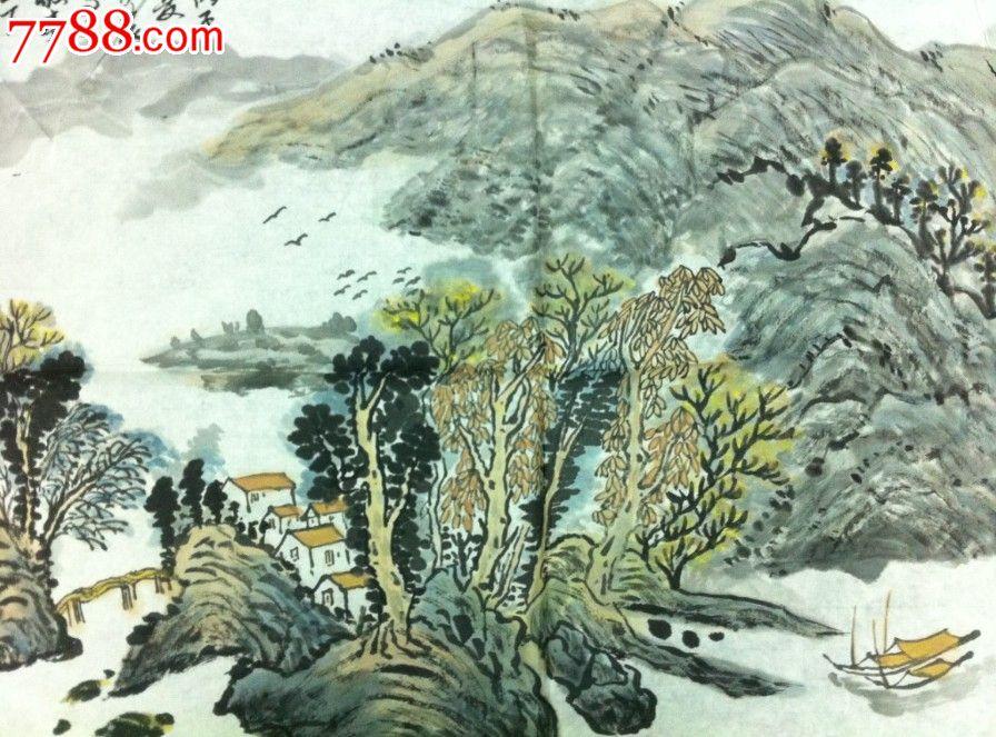 安徽著名老画家郑伊农山水画图片