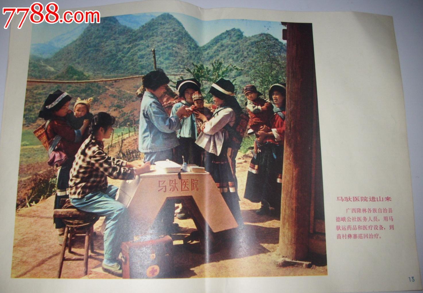 七十年代宣传画/马驮医院进山来