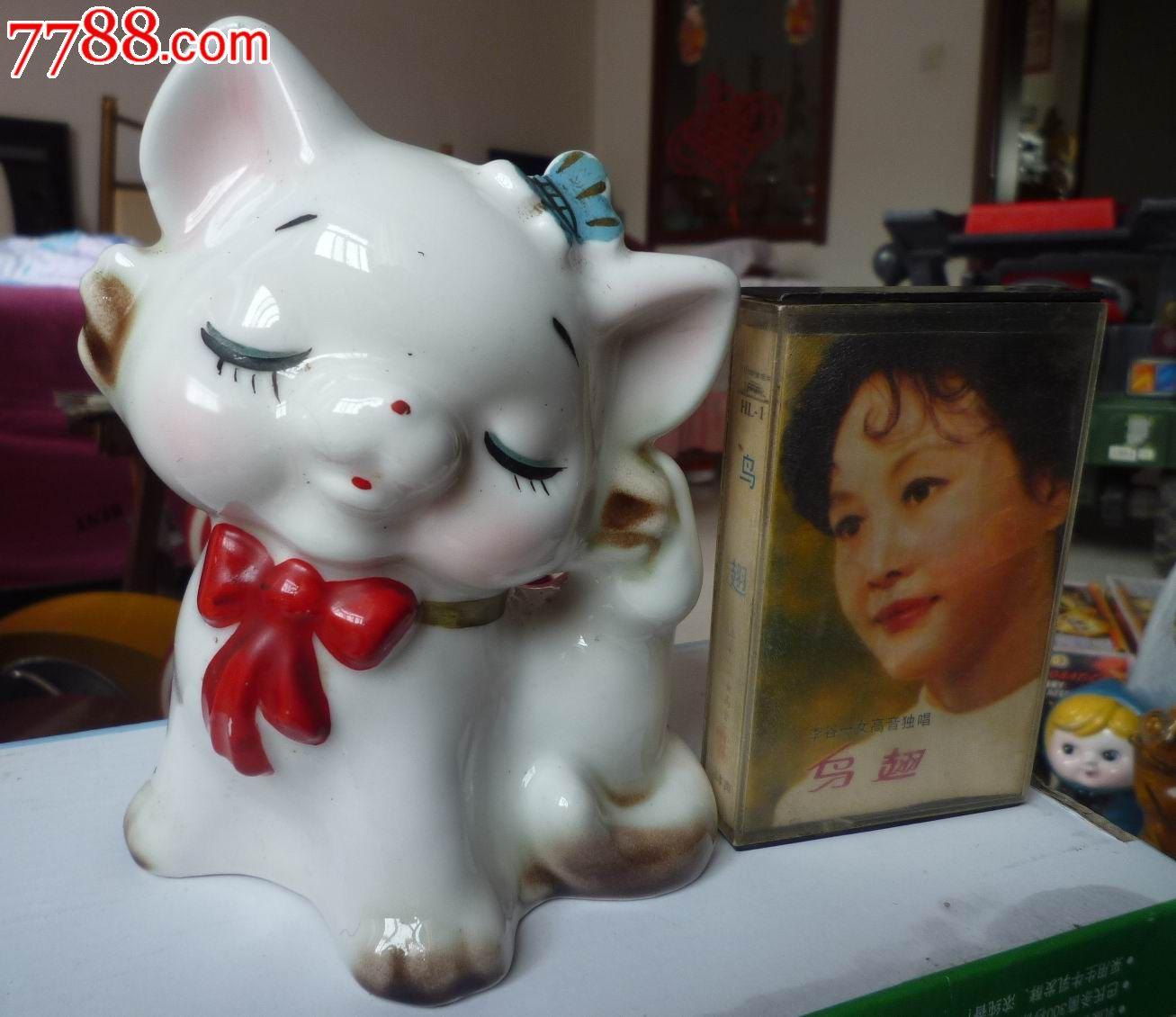 可爱小猫瓷存钱罐