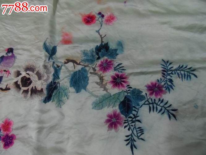 手工刺绣.牡丹.梅花.喜鹊.喜上眉梢.花开富贵在眼前