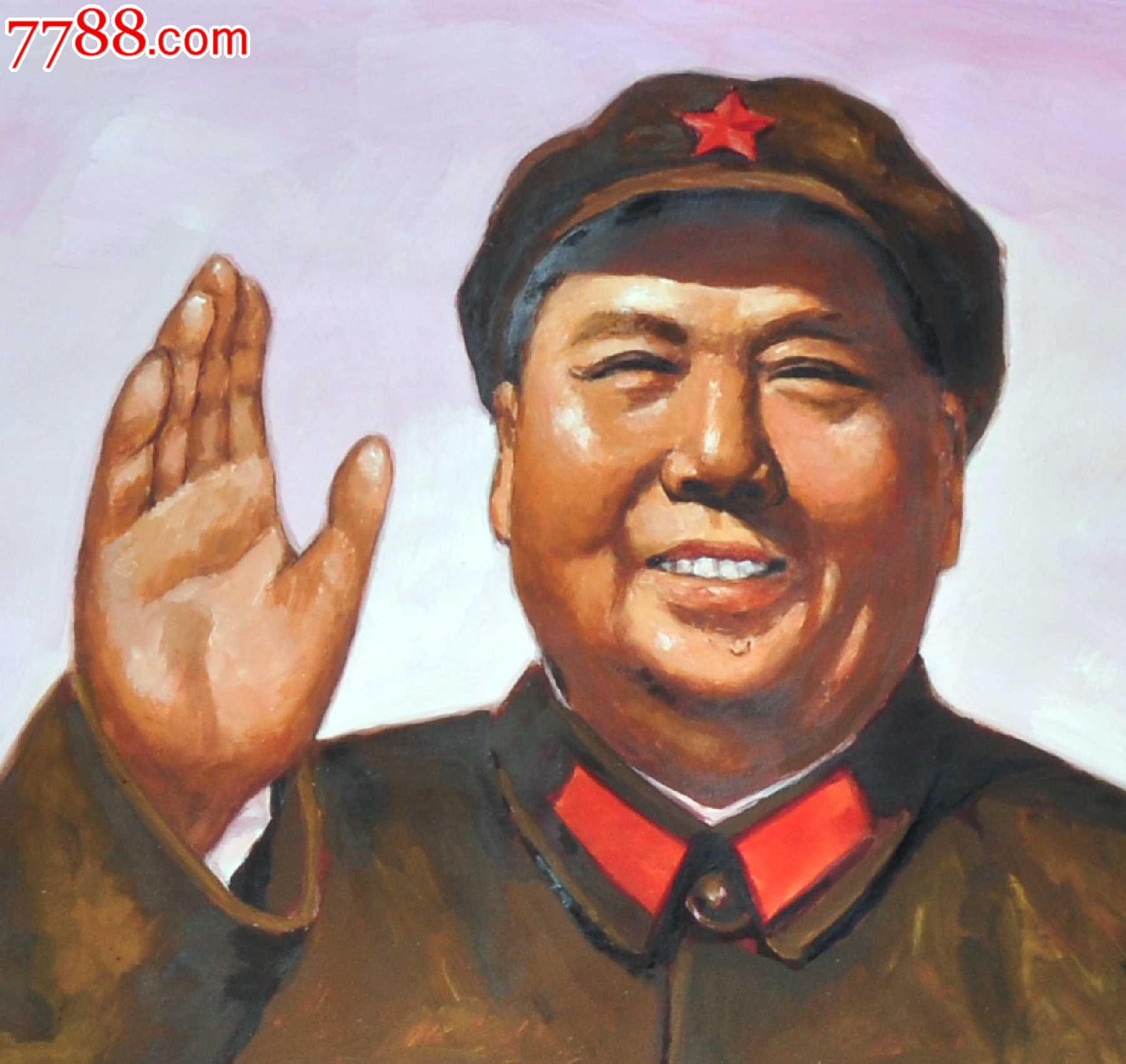 手绘毛主席像宣传画(绘朋友看图)