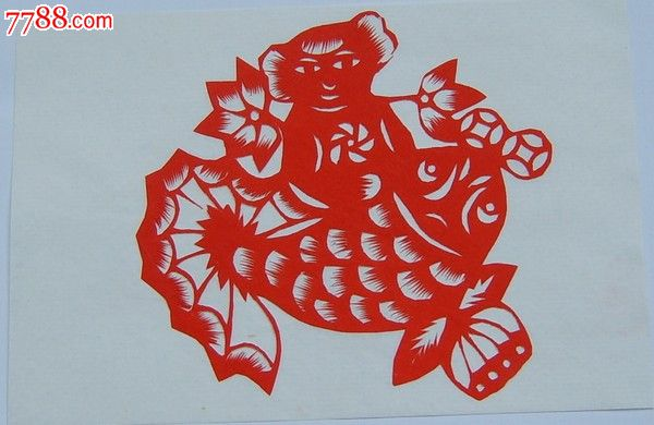 山东剪纸,连鱼娃_价格10元【济南藏友】_第1张_中国收藏热线