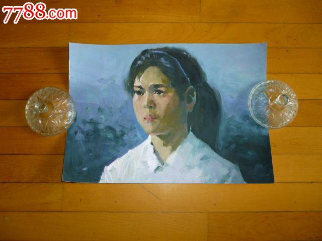 水粉/水彩原画-水粉/水彩原画 属性: 水粉原画,,人物,,80-89年,,全开