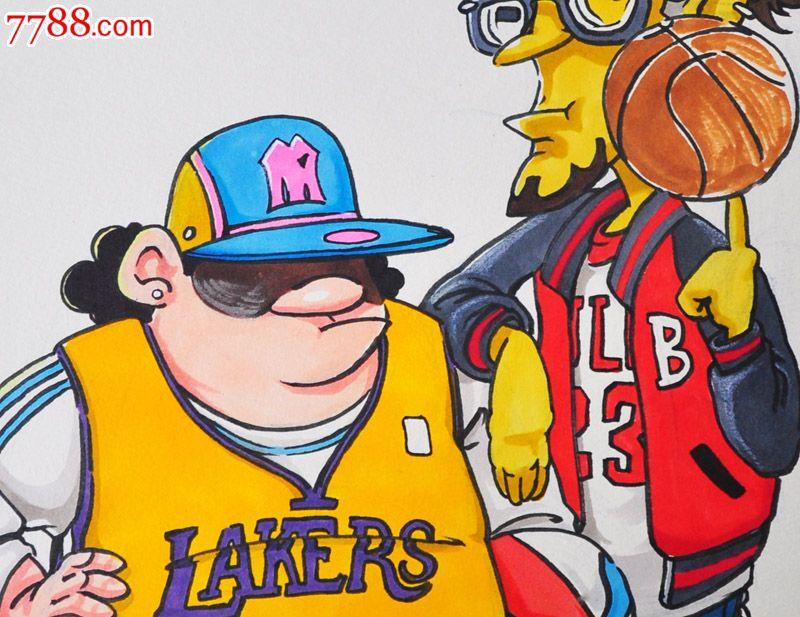 原创手绘漫画—篮球_价格元【松云阁】_第2张_中国收藏热线