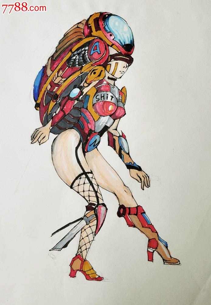 原创手绘漫画—机械女