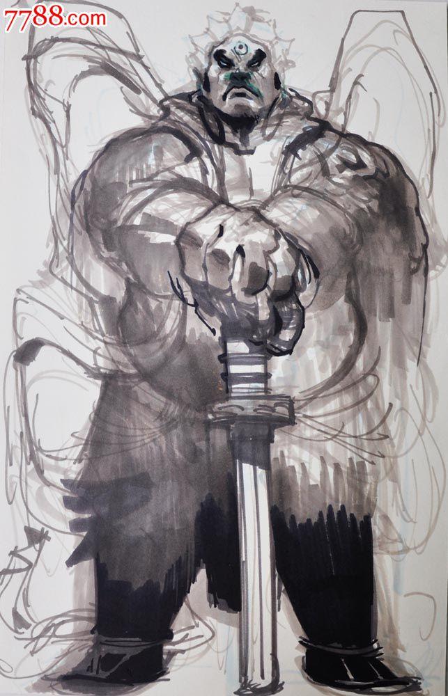原创手绘漫画—剑客