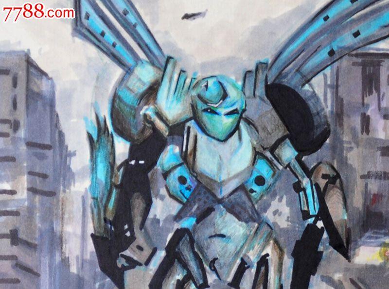 原创手绘漫画—机器人_价格元_第2张_中国收藏热线