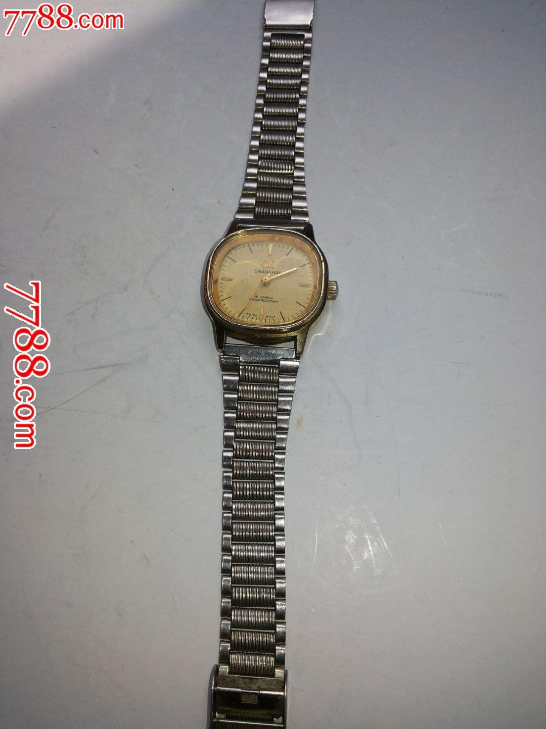 老上海表,手表\/腕表,机械,年代不详,上海,钢,中国