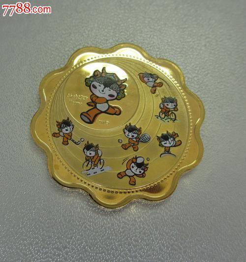 2008北京奥运会福娃迎迎纪念章,体育运动徽章