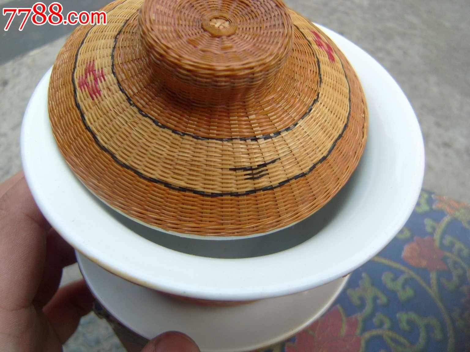 重庆特产瓷胎竹编——盖碗茶杯(三才杯)