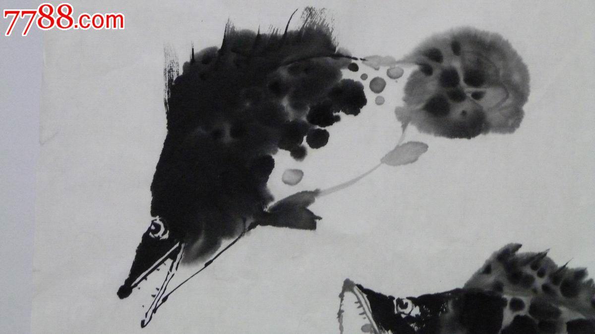 中国画写意画《鱼乐图》3