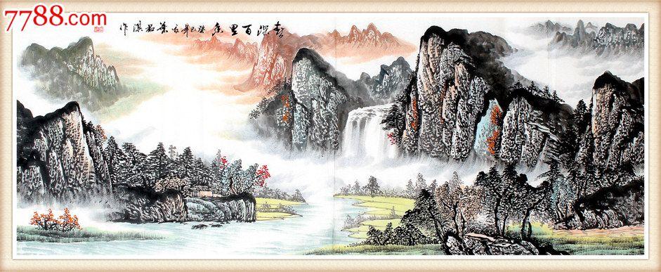 国画叶君淇山水画手绘春深百里香