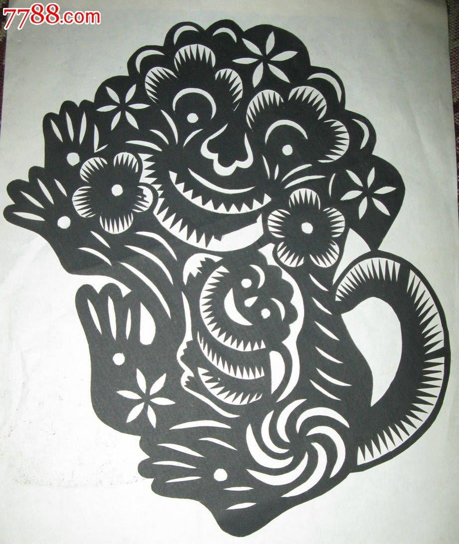 f1 品种: 剪纸/窗花-剪纸/窗花 属性: 年代不详,,陕西,,动物,,单件