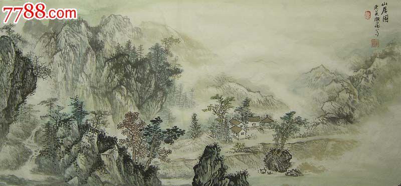 江南画家顾大飞中国画与山水水墨画03857图片