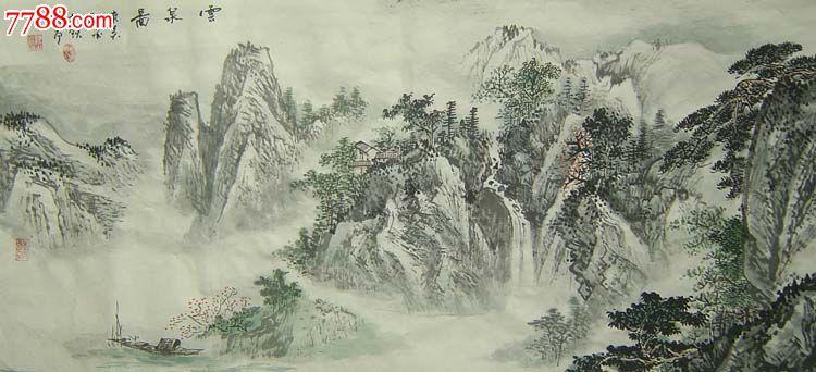 江南画家顾大飞中国画与山水水墨画05379图片