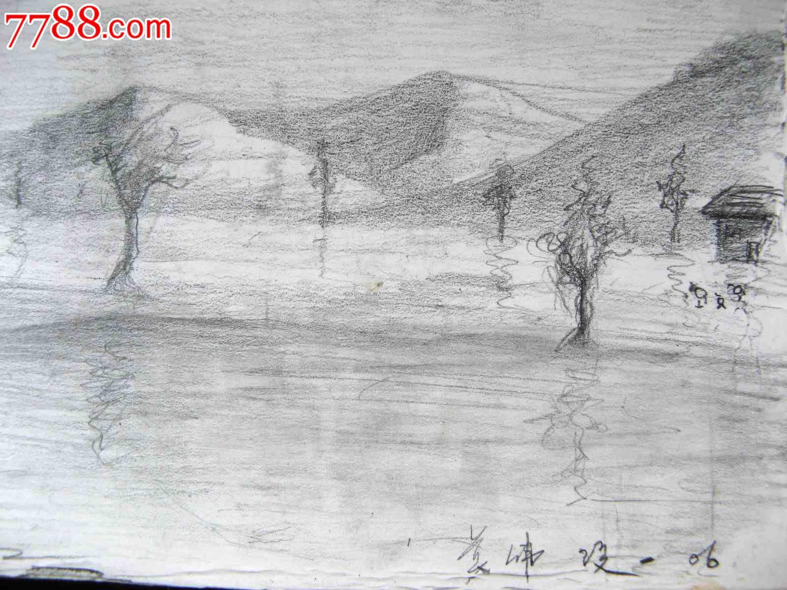 铅笔风景画图片大全_铅笔素描风景画图片_铅笔淡彩风景画图片;
