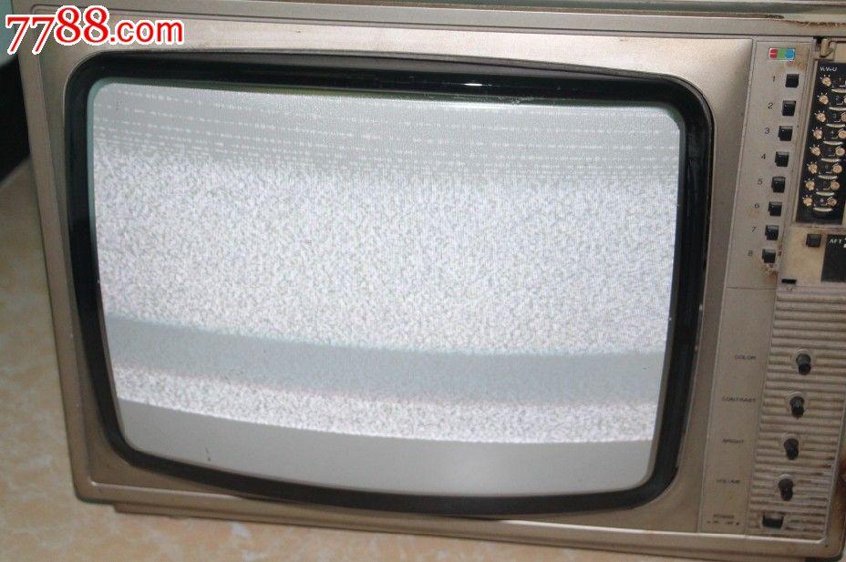 韩国欧丽安黑白电视orion收藏怀旧电视凹凸屏老电视