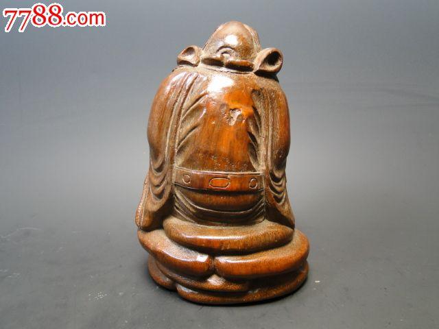 古玩杂项竹子人木雕工艺品摆件竹雕钟馗
