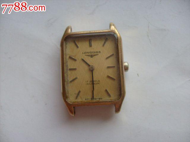 瑞士产浪琴牌包黄金长方形女用手表,怀表\/挂表