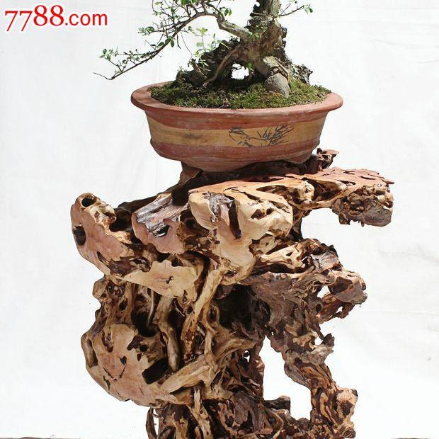 宜居品阁木雕根雕艺术摆件天然杜鹃根根艺花架ywd519