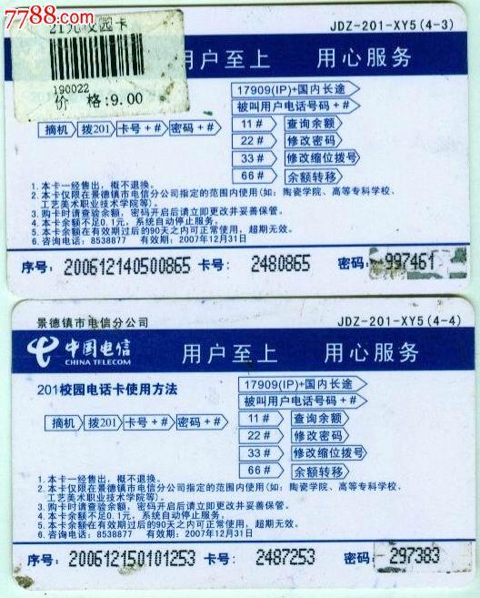 景德镇电信卡《景德镇陶瓷学院教授杨冰作品》(2枚)