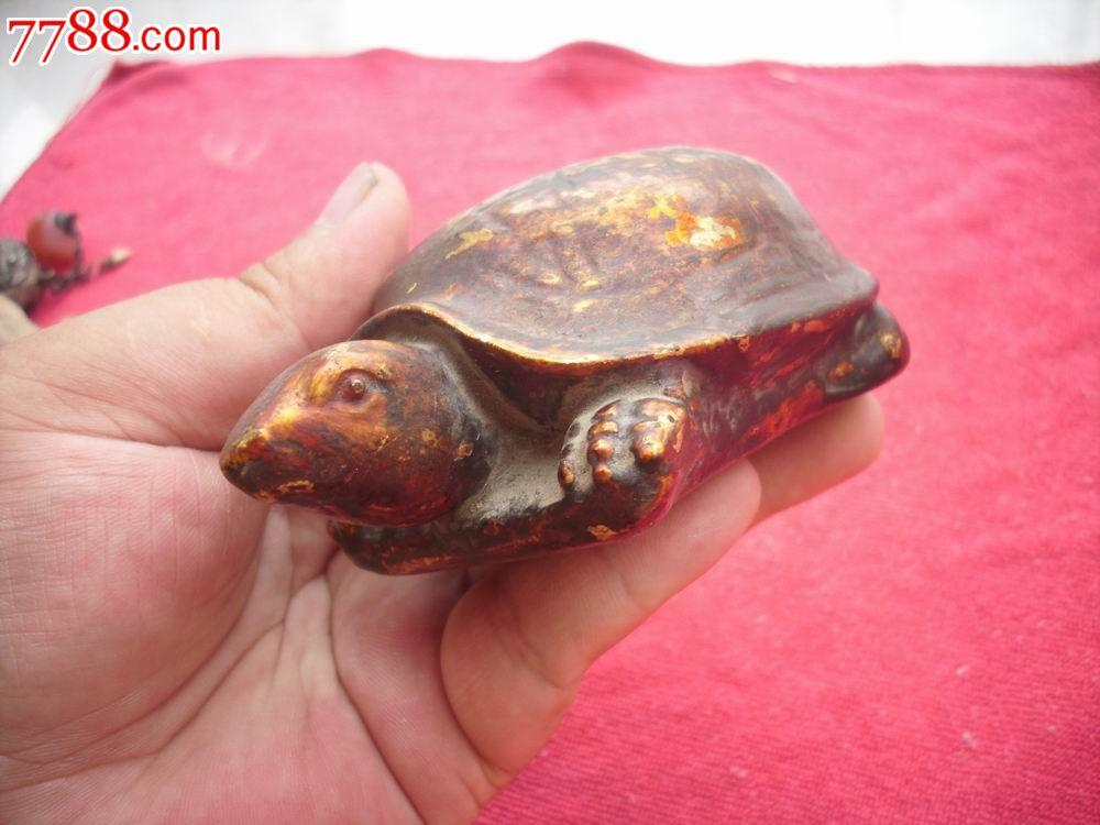 赤焰金龟_清代-木雕玩具[金龟]!栩栩如生!长10厘米,宽6.5厘米