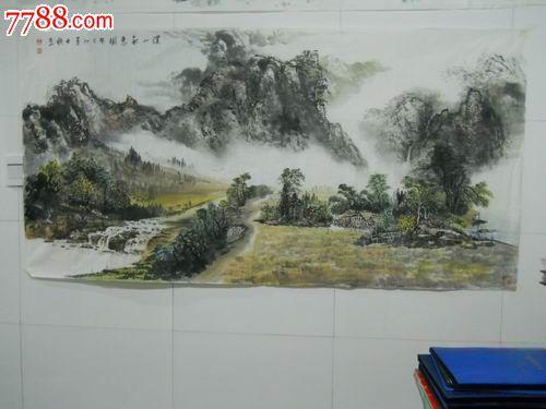 意境优美的山水画_价格元【宏萍轩】_第1张_中国收藏热线图片