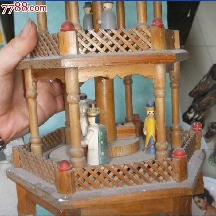 古代精工木制塔型舞台