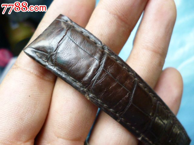 换下来的原装欧米茄鳄鱼皮表带_价格元_第7张_7788收藏__中国收藏热线图片