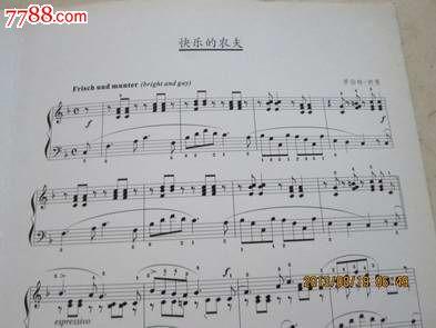 钢琴名曲;舒曼【快乐的农夫】只有谱没有cd光盘