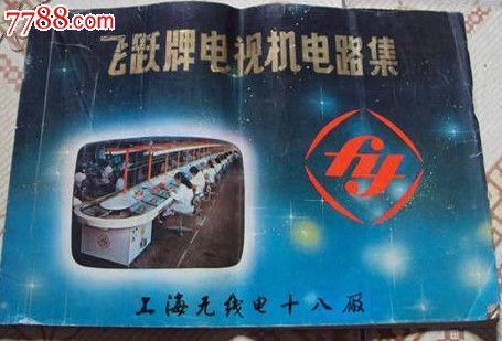 横8开全一册-----飞跃牌电视机电路集---上海无线电十八厂贾生藏书