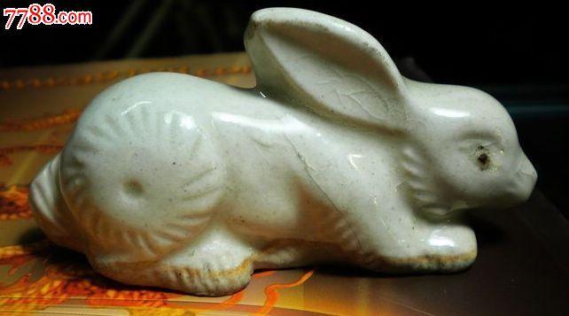 清代瓷器动物摆件