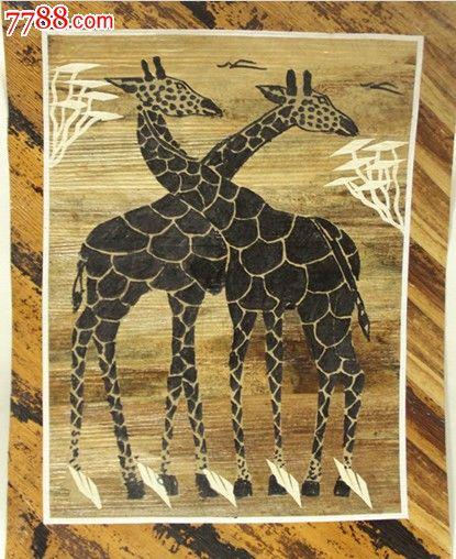 叶雕/树叶画-叶雕/树叶画 属性: 树叶拼贴画,,2010-2019年,,动物